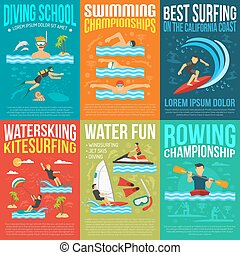Water Sport Poster Collection - Water sport poster...