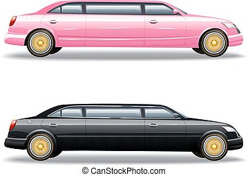 Two Limousine Icons Set