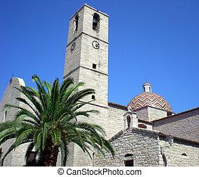 Church St. Paul, Olbia, Italy - Postcard shot of St. Paul...
