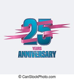 Vector design for twenty five years anniversary celebration...
