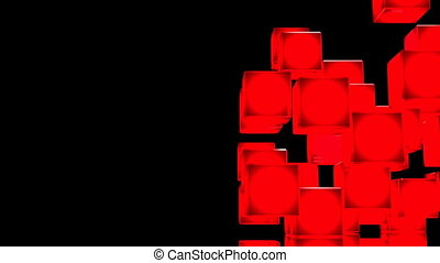 Red Shining Cube Abstract - Loop Able Red Shining Cube...