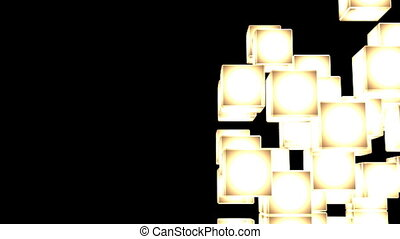 Yellow Shining Cube Abstract - Loop Able Yellow Shining Cube...