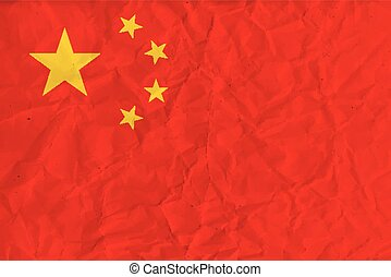People Republic of China paper  flag