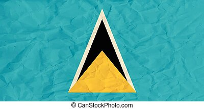 Saint Lucia paper flag - Vector image of the Saint Lucia...