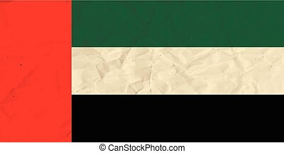 United Arab Emirates paper flag - Vector image of the United...