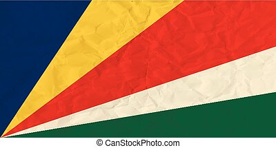 Seychelles paper flag - Vector image of the Seychelles paper...