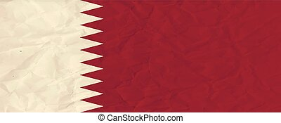 Qatar paper flag - Vector image of the Qatar paper flag