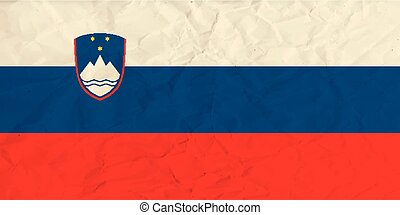 Slovenia paper flag - Vector image of the Slovenia paper...