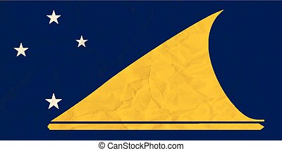 Tokelau paper flag - Vector image of the Tokelau paper flag...