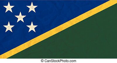 Solomon islands paper flag - Vector image of the Solomon...