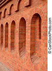 Red brick fence. - Red brick fence, can be used as...