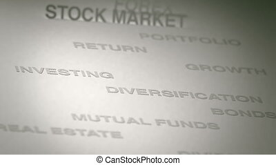 Investing Concept Animation - Investing related terms...