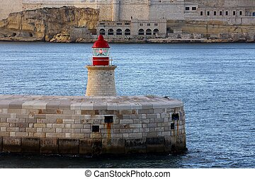 port light house - port of Malta light house