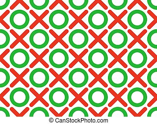 tic tac toe seamless wallpaper - vector illustration tic tac...