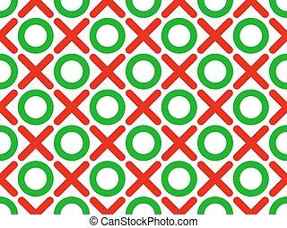 tic tac toe seamless wallpaper - vector illustration tic tac...