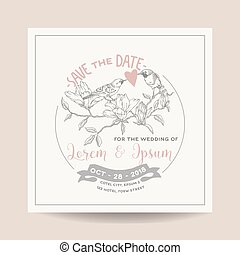 Wedding Invitation Card Save the Date Wedding Card Marine...