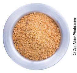 Coconut Sugar isolated on white - Coconut Sugar (close-up...