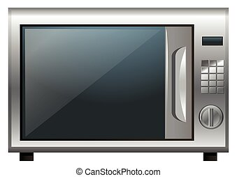 Microwave oven on white background illustration