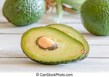 Avocado in a kitchen