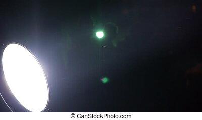 Spotrlights over bridge - Spotlights shine for celebration...