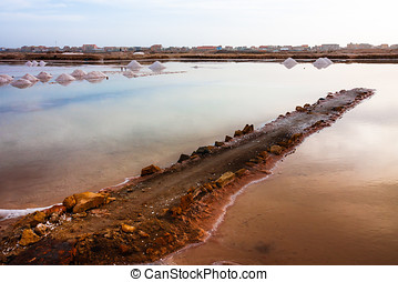 Cape Verde salt ponds, Africa