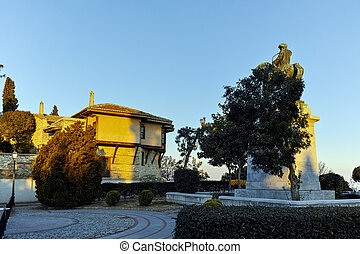 Muhammad Ali of Egypt monument and old town in Kavala, East...