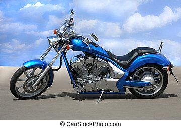 motorcycle on highway - powerful black motorcycle on highway...