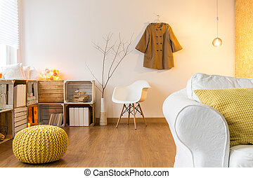 This little pouffe suits here - Room with flooring and...