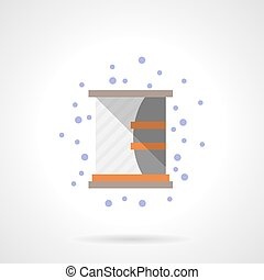 Shelf with mirror flat color vector icon