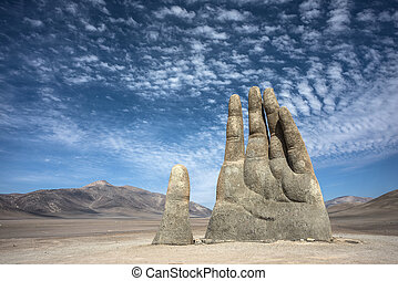 Hand Sculpture, the symbol of Atacama Desert - The Mano de...