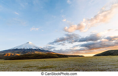 Sunset on the mighty Cotopaxi Volcano - Sunset on the mighty...
