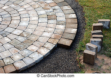Laying patio bricks - Patio bricks installation