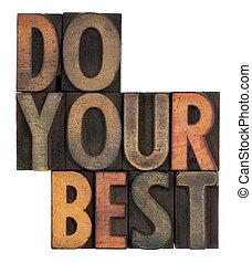 do your best - motivational reminder