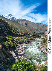 Urubamba Sacred Valley in Peruvian Andes