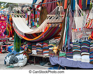 Famous Indian market in Otavalo, Ecuador - Famous Indian...