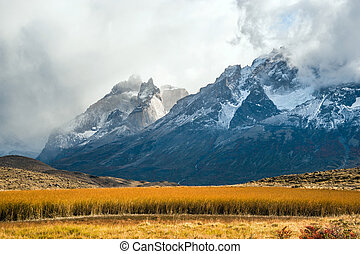Fall in the Patagonia - Fall in the National Park Torres del...