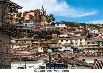 City of Cuzco in Peru, South America