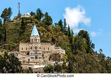 Famous Biblian's Santuario de la Virgen del Rocio, Ecuador -...
