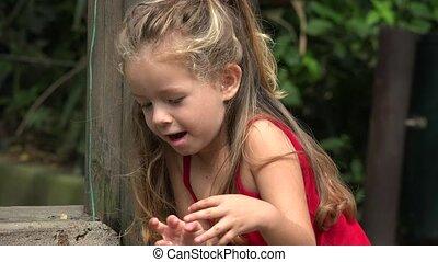 Toddler Girl Having Fun