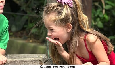 Young Laughing Toddler Girl