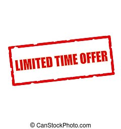 limited time offer wording on chipped rectangular signs