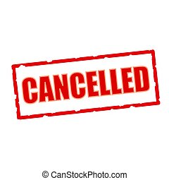 Cancelled wording on chipped rectangular signs