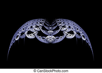 Gothic Wings - Gothic style grey abstract wings over black...