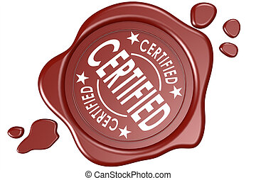 Certified label seal isolated image with hi-res rendered...