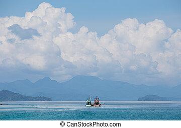 Wonderful tropical sea near the island of Koh Chang,...