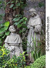 Statue in the Basilica del Santo Nino. Cebu, Philippines. -...