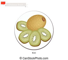 Kiwifruit or Chinese Gooseberry, A Popular Fruits in China -...