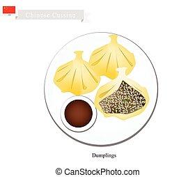 Xiao Long Bao or Chinese Soup Dumplings - Chinese Cuisine,...