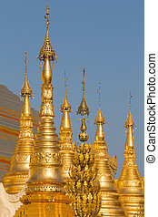 Shwedagon Pagoda in Yangon, Myanmar - Shwedagon Pagoda at...