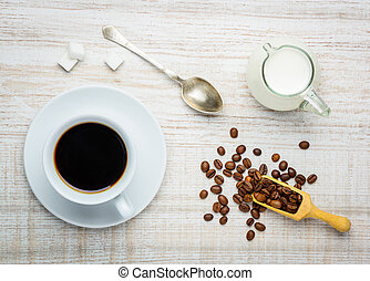 Cup Coffe and Milk